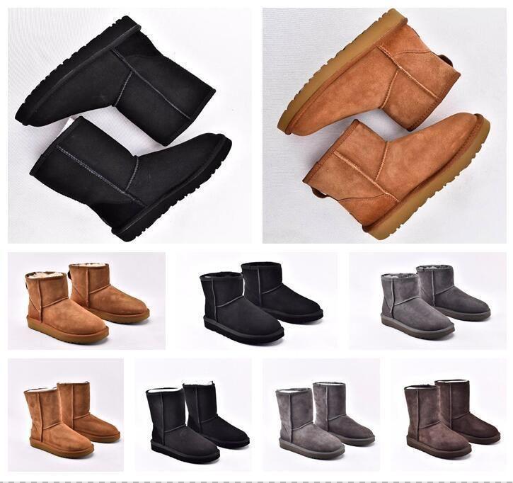 2020 Australia ug WGG WomensuggsUGGugglis clásico de altura media mujeres de las botas de invierno zapatos de nieve diapositivas negro lNaN cuero tobillo #