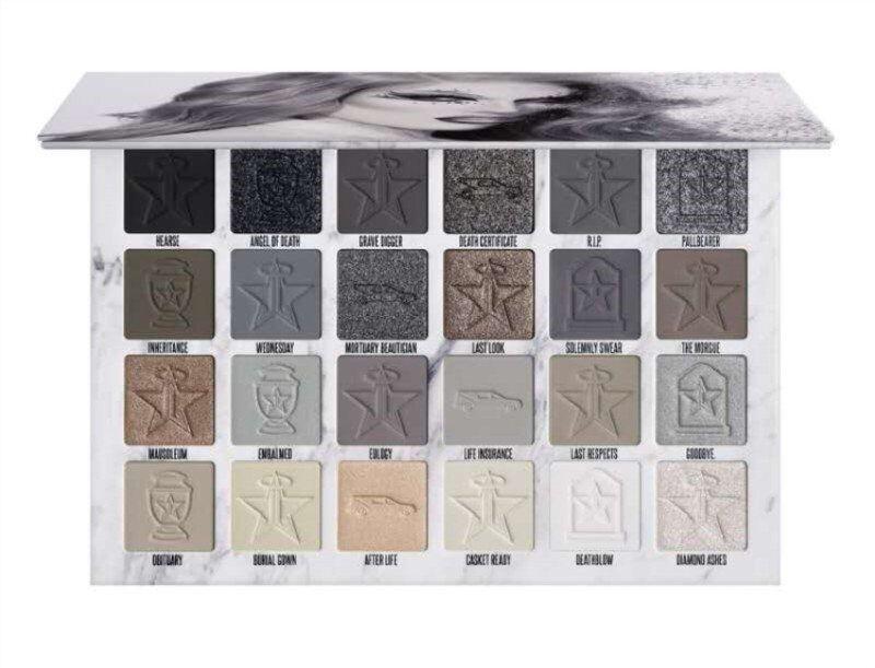 بيع بيع JS CREMATION 24 ألوان عينيه لوحة رمادي براون ماتي مسحوق مضغوط J نجمة ظلال العيون عالية الجودة