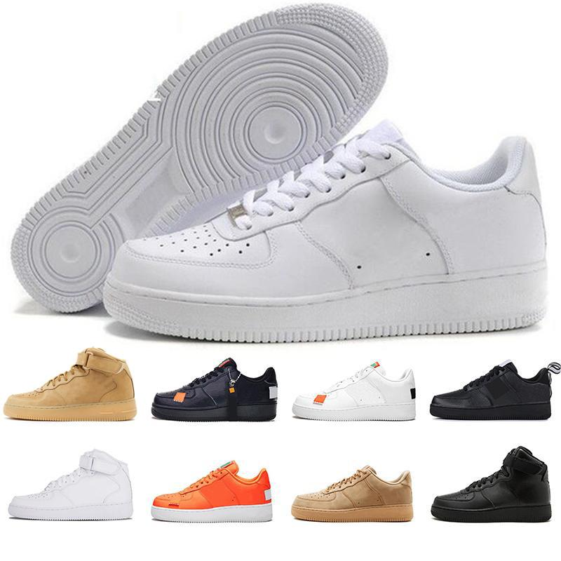 2020 Force one 1 Af1 High Low Cut utilitário One 1 Dunk Homens Mulheres flyline Running Shoes Preto Sports Skateboarding Ones Shoes Formadores Branco externas Sneakers