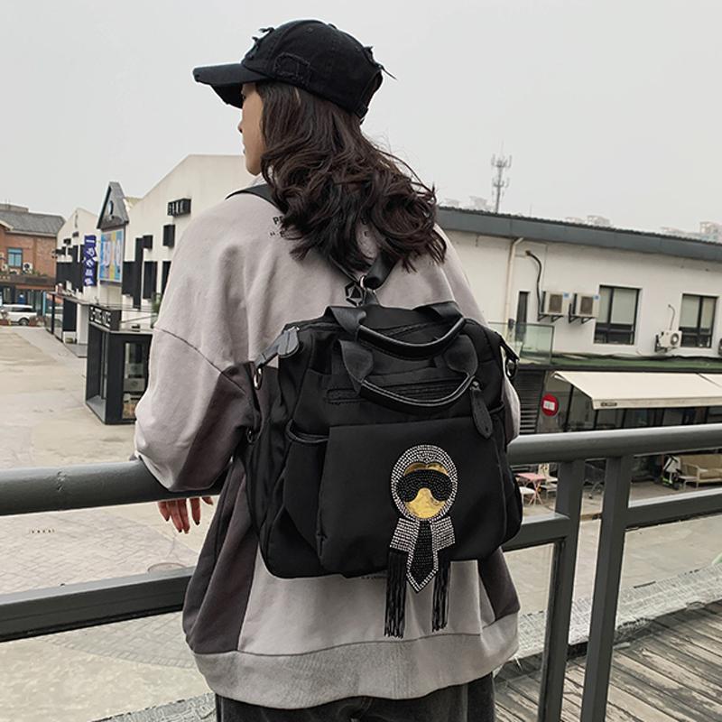 Нейлон Путешествия Водонепроницаемый для задних Сумки Женщина Сумки Плечо Многофункциональная Женская Сумка Большой Школьный Пакет TLGDQ