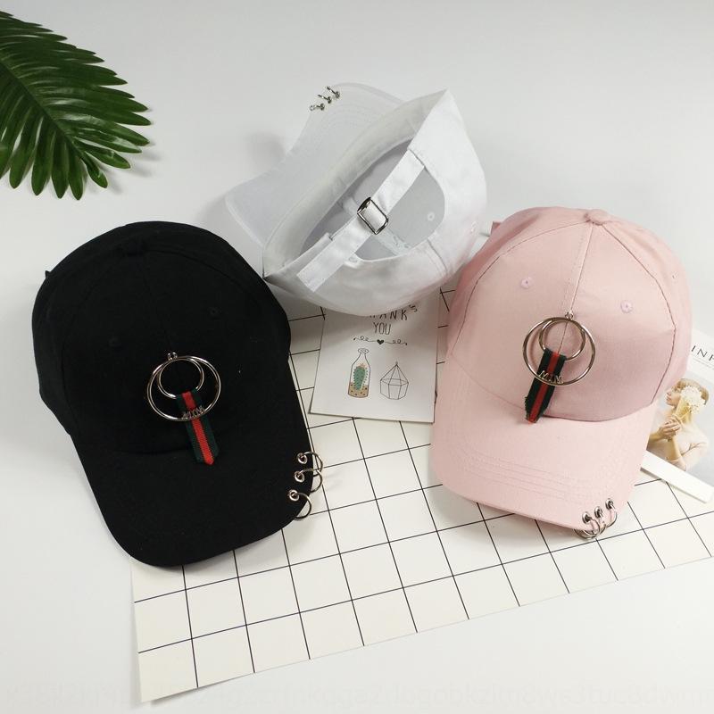 e2HaG Весна крышка Остроконечного бейсбола и летом новая мода Корейского стиль фуражка кольцо света пластина HAT женских мужская универсальный бейсбол шляпа е