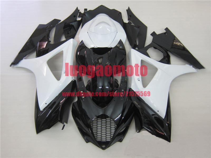 Yeni Enjeksiyon Perileri Kit + Suzuki K7 GSXR1000 GSXR için Hediyeler GSXR 1000 07-08 SUZUKI GSXR1000 2007-2008 K7 Bodywork #White Siyah # 8sh37