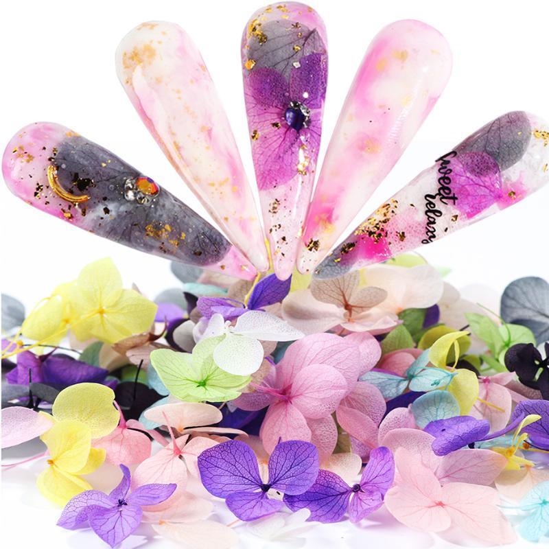 El ayuno flores secadas clavo del arte del clavo 3D de flores naturales flores joyas de esmalte en gel decoraciones para las uñas de manicura LE1505