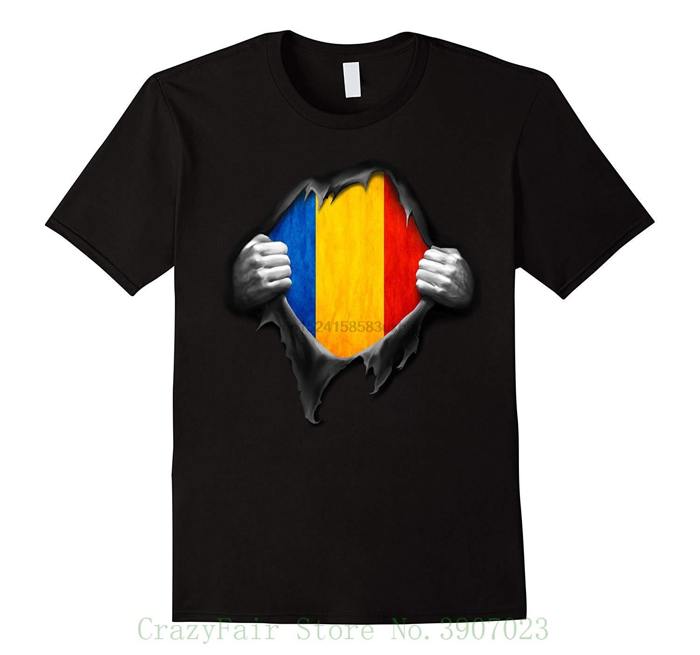Romanya Bayrağı T Gömlek. Proud Romen Baskılı Yaz Stili Tees Erkek Harajuku Üst Spor Marka Giyim