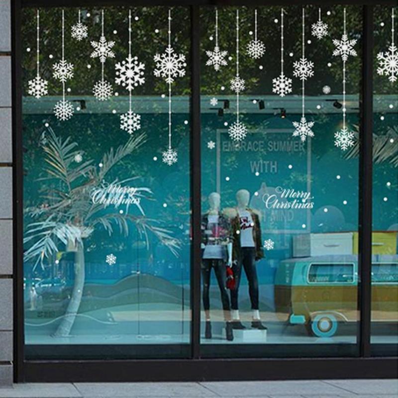 Weihnachtsdekorationen Qifu Fenster Aufkleber Dekoration für Home Weihnachtsdekor Merry 2021 Glückliches Jahr