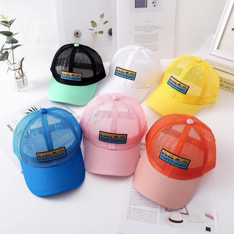 protezione solare del cappello di estate zjOCf bambini per i ragazzi e le ragazze alla moda lingua d'anatra bambino pieno di rete netto berretto da baseball berretto da baseball dei cartoni animati di sole