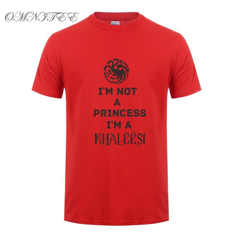 Yaz erkek gömlek t i bir khaleesi tişört erkekler kadınlar pamuk kısa kollu Daenerys targaryen tee üst değilim prenses değilim