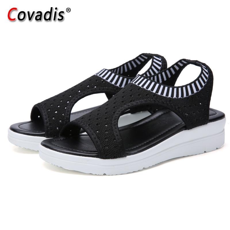 Femmes Sandales Mode Chaussures Casual Femme Respirant Chaussures de marche confortables dames d'été Plate-forme Slip-on Chaussures Femmes Y200620