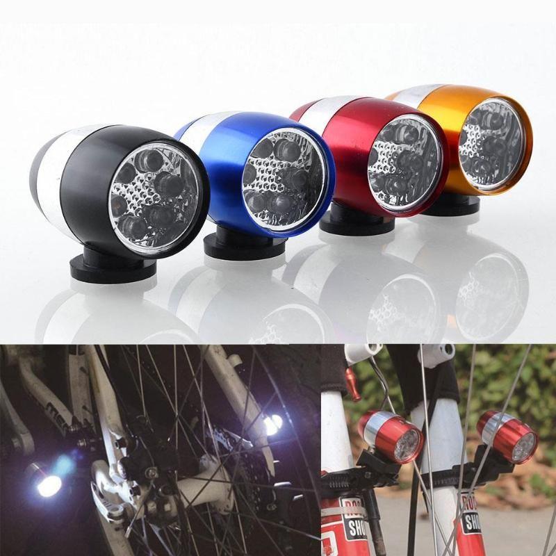 La cabeza de la bici llevó la lámpara W / soporte de luz de ciclo al aire 6led flash advierte la lámpara a prueba de agua