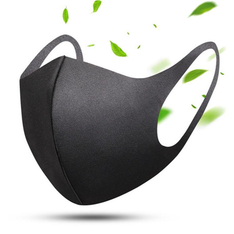 Anti-polvere maschere in poliuretano Bocca Volto di protezione unisex riutilizzabile Facemask Uomo Donna Che Indossa Nero Moda Mask Dwa614