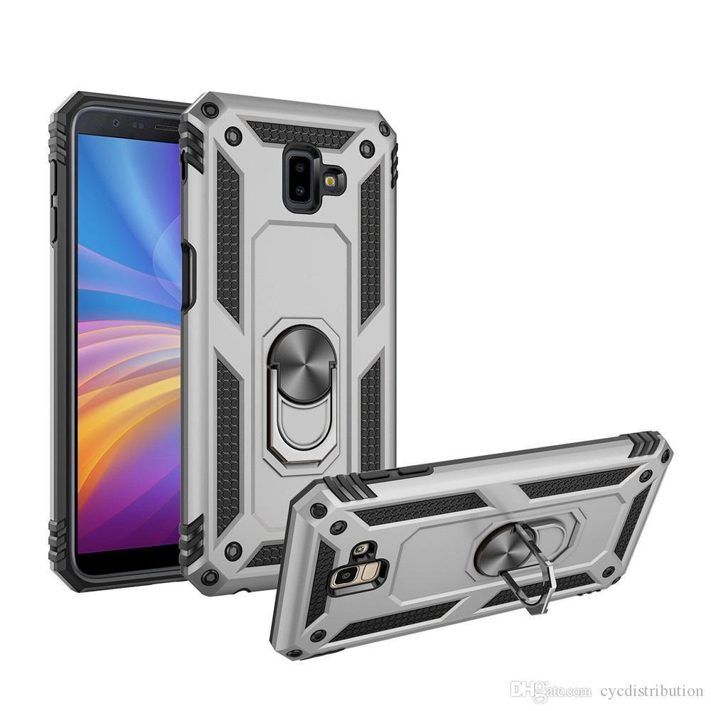 Para Samsung Galaxy Note S20 Ultra Pro 10 Plus S10 S10E Nota 8 9 10 20 Plus Militar anillo de la armadura de la cubierta del imán pata de cabra