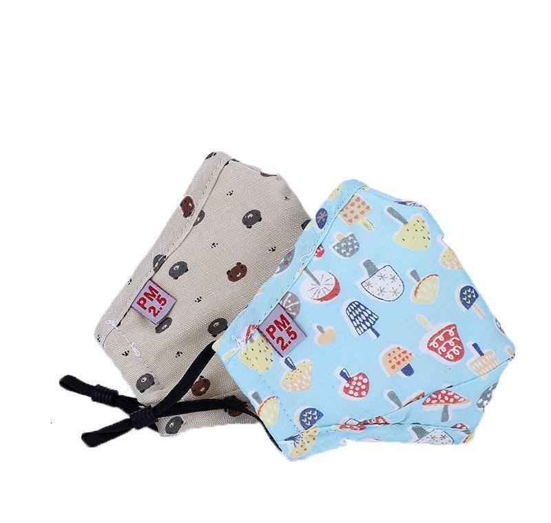 Cute Pm2.5 Valve Cover Mask Kids Washable Breathing Face Cartoon Anti Dust Xhlight Jttlp