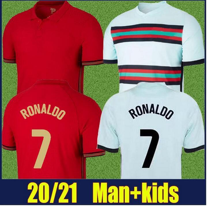 Thai Quality Customized 20-21 Home 7 # Red Soccer Jerseys Shirt 10 Bernardo Football Jersey 11 B.Fernandes 23 João Félix 17 G.Guedes
