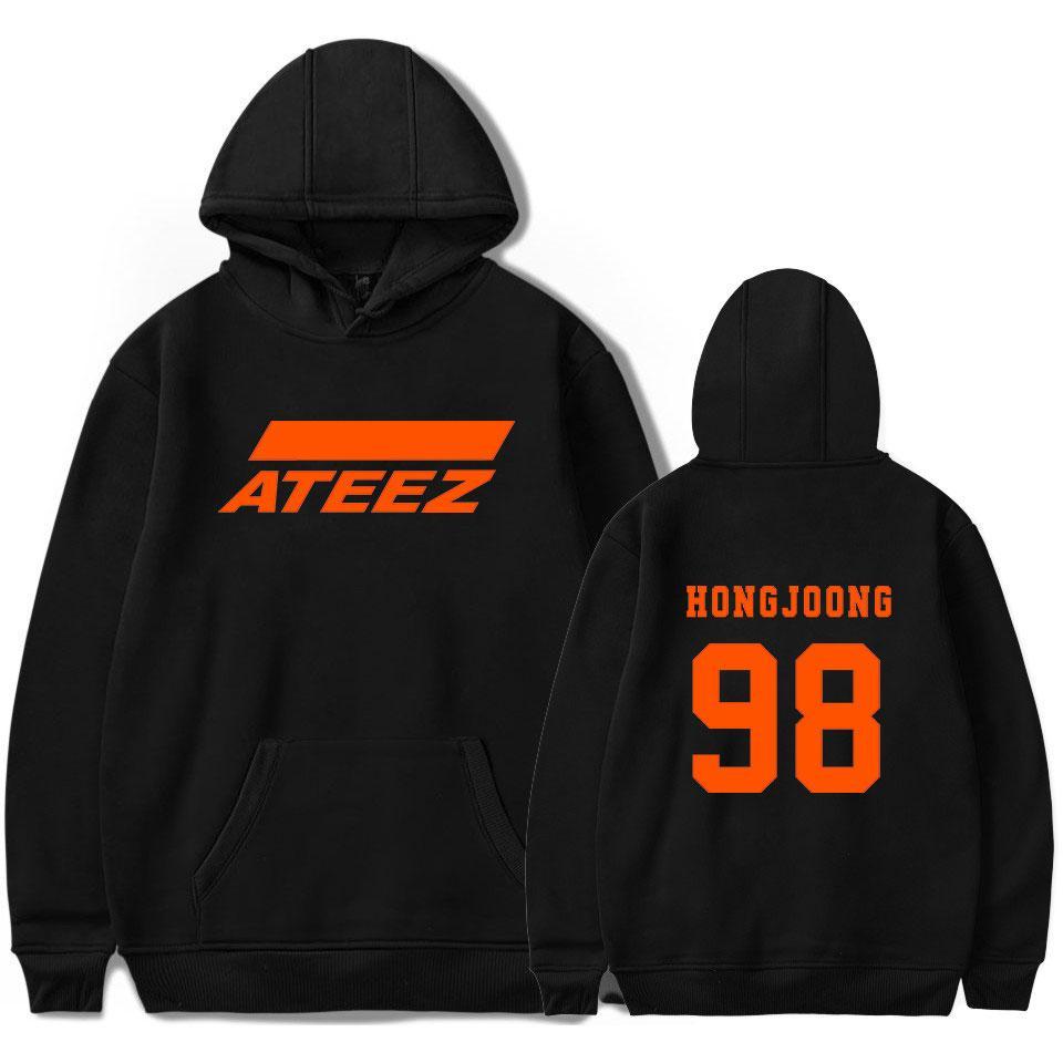 Nouvelle équipe coréenne ATEEZ Sweat-shirt d'hiver Toison d'Outwear Casual overs Harajuku Imprimé Hoodies et Sweat Femmes T200917