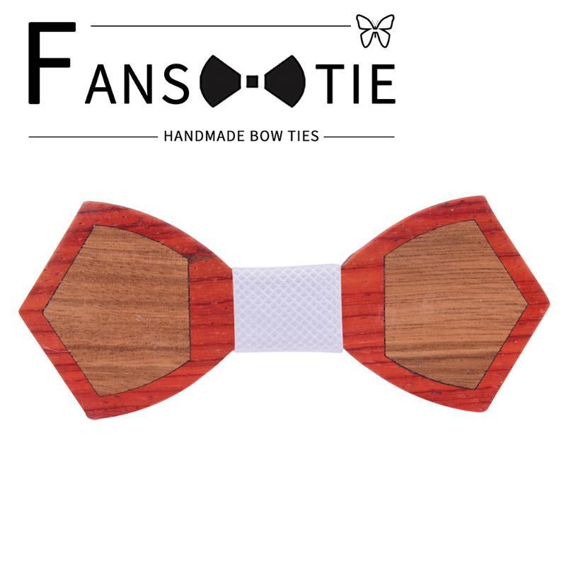 Yeni% 100 Ahşap Ahşap Papyon İçin Erkek Kravat Kırmızı Bule Ekose Paisley ilmek Suit Düğün Boyun Tie Aksesuar Papyon Cravat