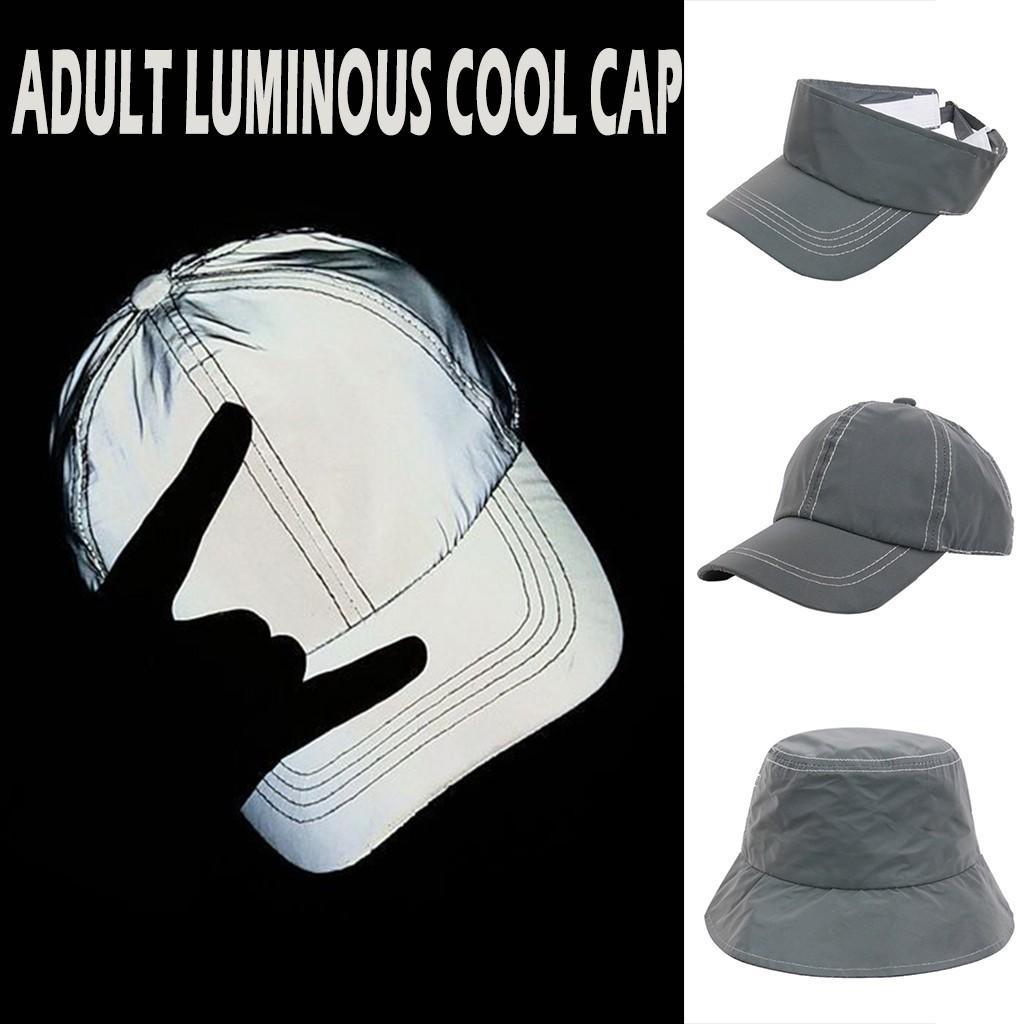 Alta calidad de mayor venta de productos al por mayor de 2020 Soporte gorra de béisbol de manera adulto luminoso reflectante Sombrero de sol y Dropshipping