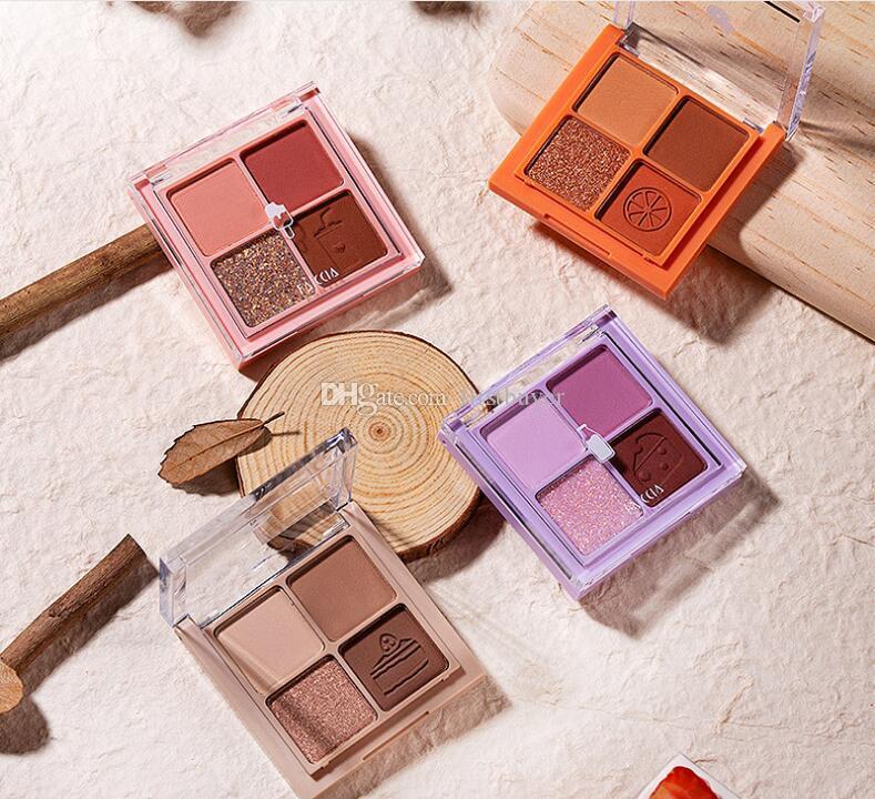 FAICCIA Makeup 4 Color Eyeshadow Matte Pearlescent 4 Colors Eyeshadow Palette