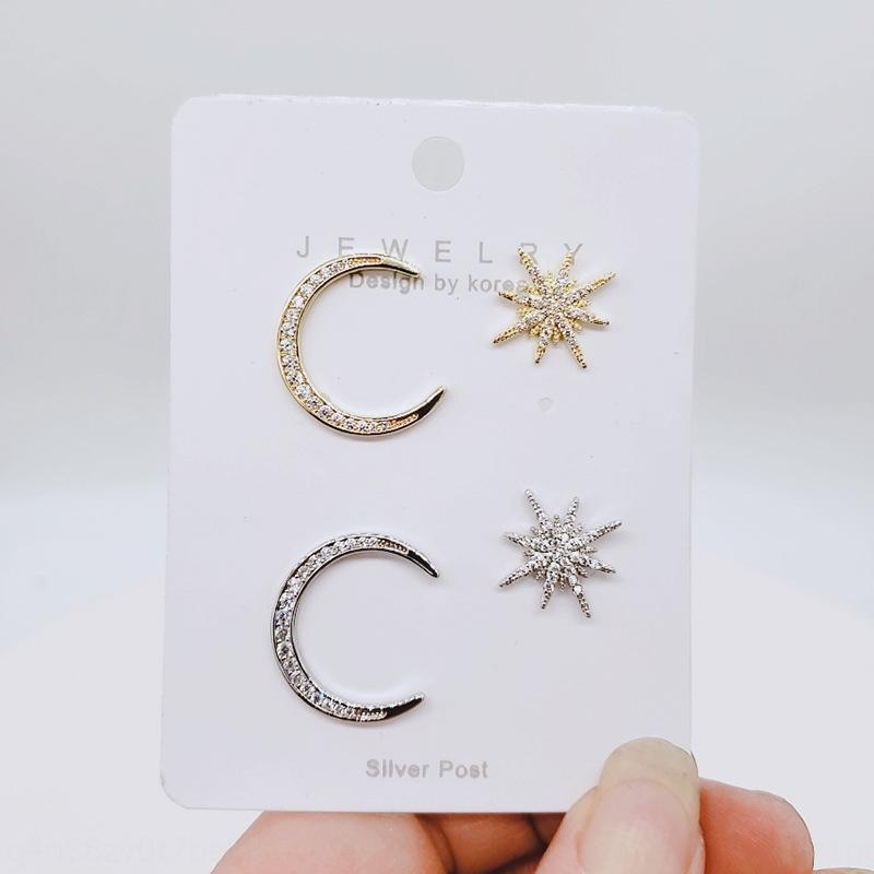 a forma di WtiMp C- delle donne asimmetriche e coreano styletemperament personalità avanzata orecchini otto Star All-partita orecchini stella