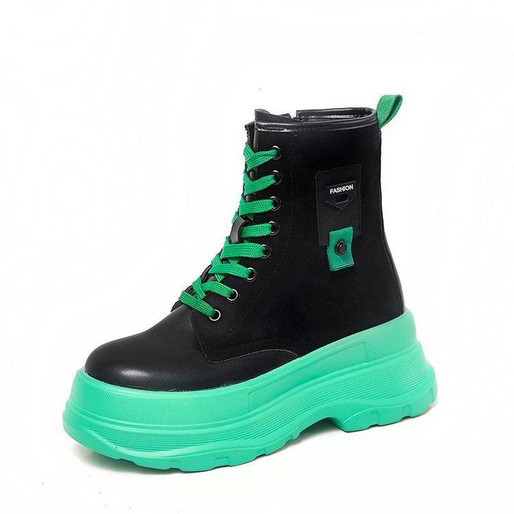 Kadınların botları artan Sonbahar Yeni moda yüksek Kadın ayakkabıları sıcak Yürüyüş ayakkabıları Kadın Çizme Femme Ayakkabı Kadın kalın tabana vurma