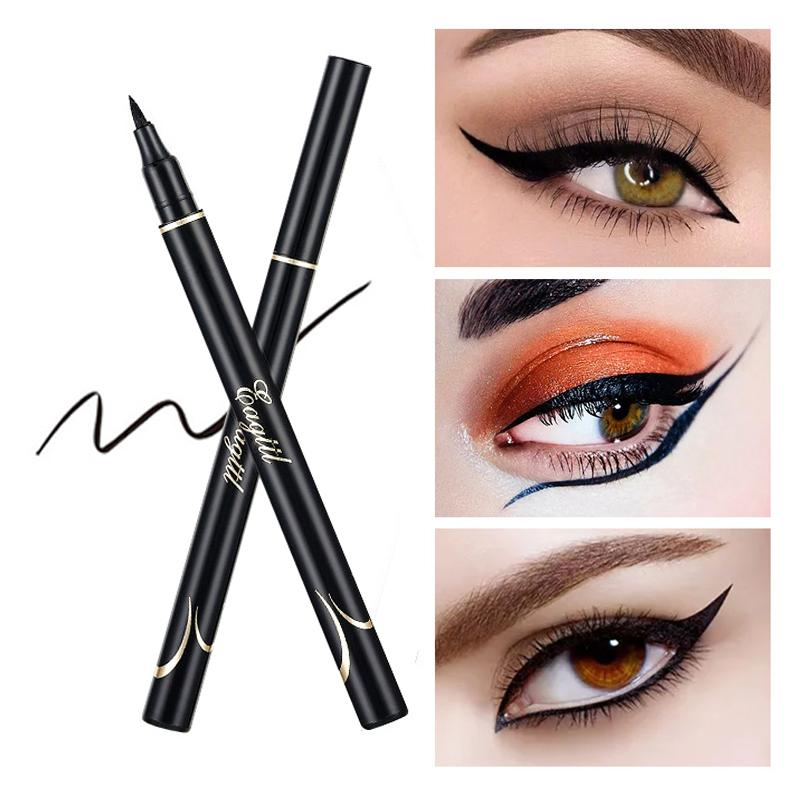 Waterproof Makeup Eyeliner Pencil Sharpen Cool Liquid Eye Liner Eyes Professional Eyeliners Pen Big Eye Maquiagem Cosmetics Tool