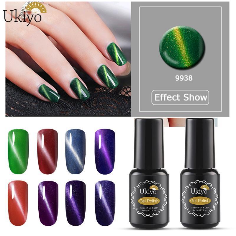 Ukiyo 8ML Gel UV Verniz 3D Cat Eye Gel Polish Semi Permanente Soak Off híbridos verniz laca 58 cores de esmalte Gelpolih