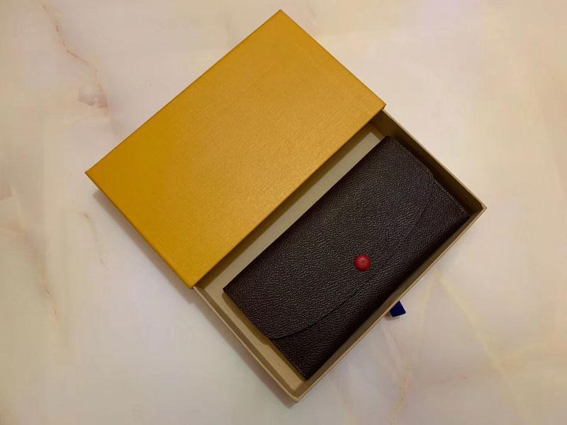 2020 hochwertige Dame Luxus Mehrfarbengeldbörse Lange Mappe bunter Kartenhalter original box Frauen klassischer Tasche mit Reißverschluss.