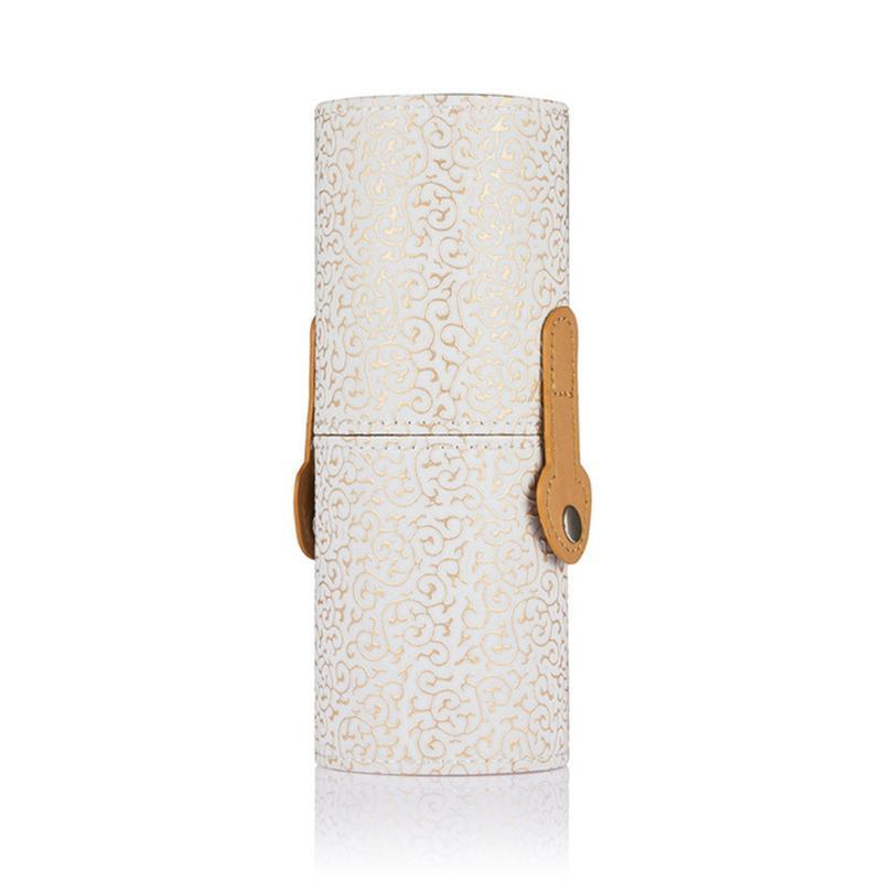 Maquiagem Escova Cup titular cosméticos ferramenta armazenamento caso vasilha (Branco)