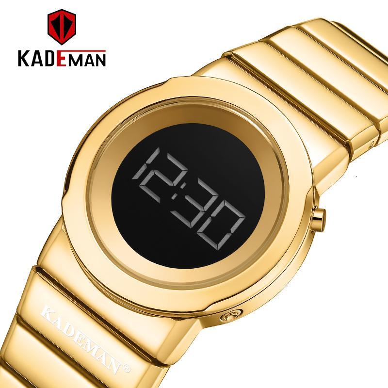 Aço Inoxidável Assista Vestido Mulheres Moda Digital Relógios Golden Lady relógio de pulso à prova d'água simples Girl Clock Relógio Feminino