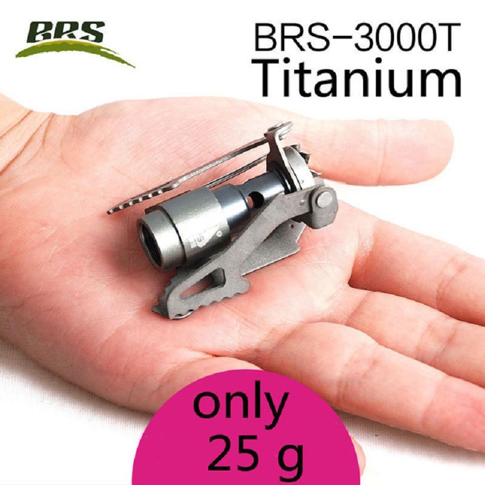 BRS-3000T 25g 2700W titanio stufa di campeggio di un pezzo Ultralight del bruciatore a gas pieghevole portatile per escursione esterno che Backpacking picnic Cooker barbecue