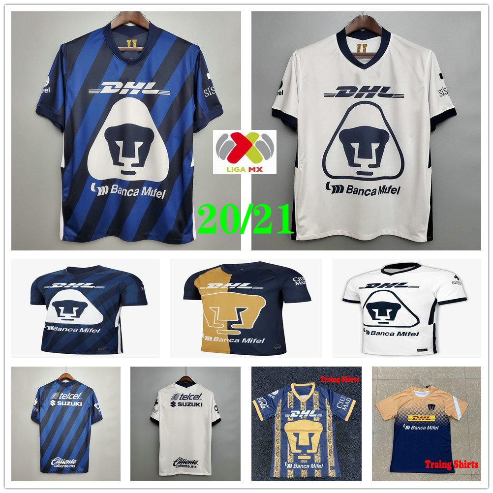 2020 2021 Mexican Football Club UNAM Soccer Jersey MARTINEZ HACHITA BRITOS CALDERON FORMICA Custom 20 21 Home Away Adult Kids Football Shirt