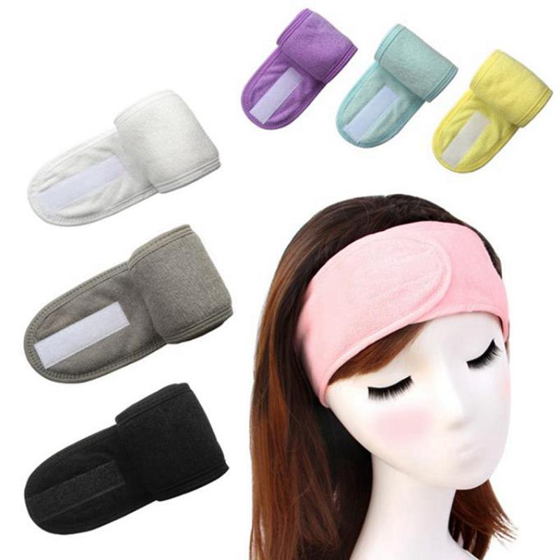 Douche Femmes Bandeaux Cosmetic Bands cheveux se laver le visage Bain Maquillage Mode Bandeau Head Turban SPA Salon Accessoires 8 Couleurs DW5861