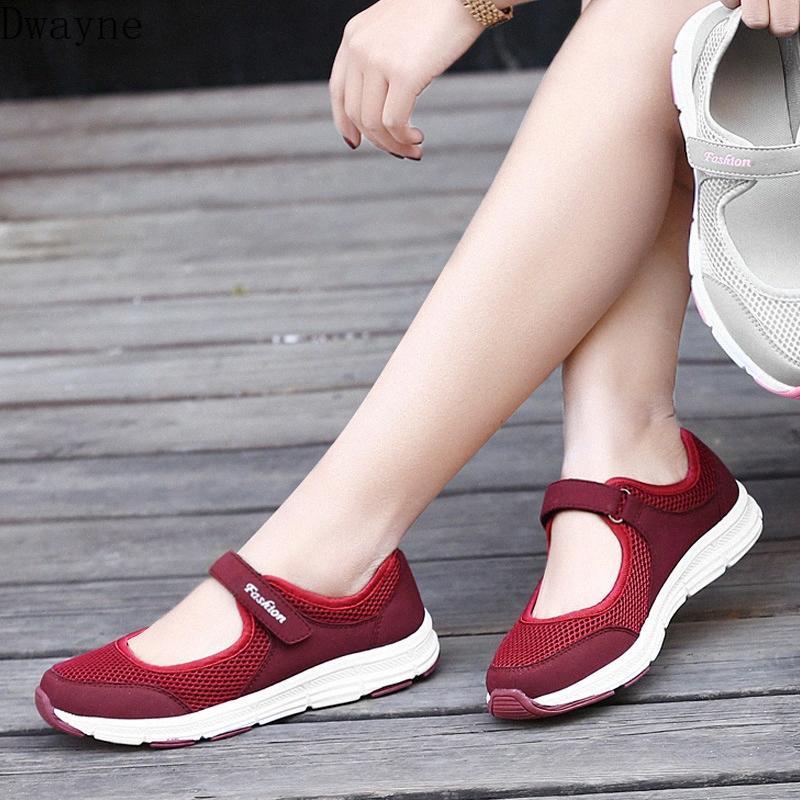 2020 İlkbahar Ve Yaz ile Yumuşak Alt Nefes Büyük Beden Sığ Ağız Kadın Mesh Tek Ayakkabı Düz Günlük Ayakkabılar Munro Ayakkabı Pin nVh6 #