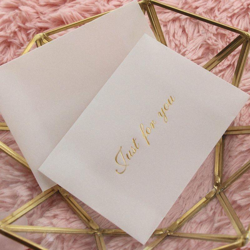 50pcs 11 * 8 cm Translucide Blanc Blanc Papier Enveloppe de banque Cartes de visite Mini enveloppe Invitation VA90 #