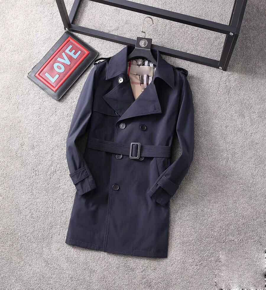 20SS Classic Hot-Reading Мужская и женская мода Британский Mid-Free Trench Trench Trench / British Designer Double Handled Thif New