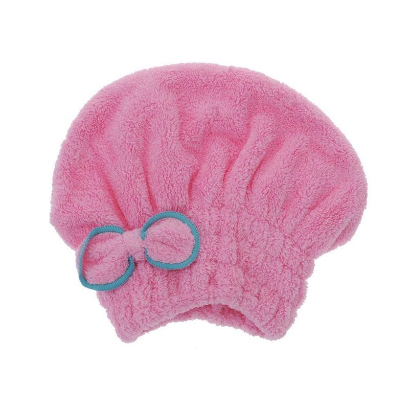 minifiber seco Útil pelo sombrero tapa toalla del pelo enrollado rápidamente seca