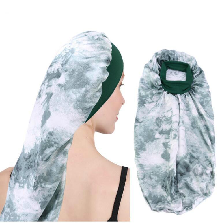 اضافية طويلة الحرير بونيه للمرأة ليلة النوم كاب للشعر الطويل الضفائر، المجدل مجعد Hair- لينة مطاطا الفرقة