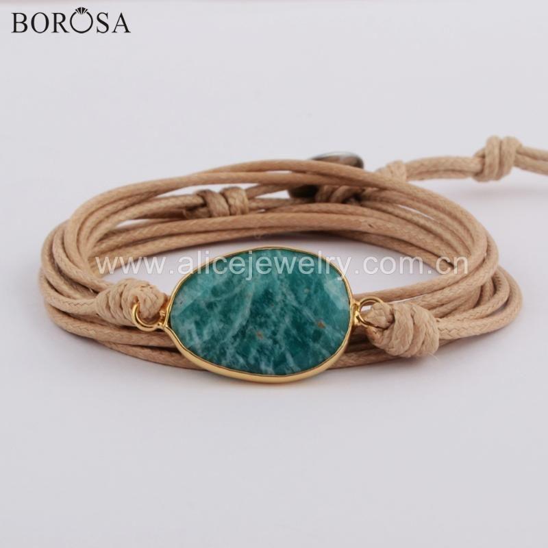 Dropshipping Wrap Bracelets Natural Amethysts Charm 5 Times Friendship Bracelet Boho Bracelet Lapis Lazuli Amazonite Bracelets