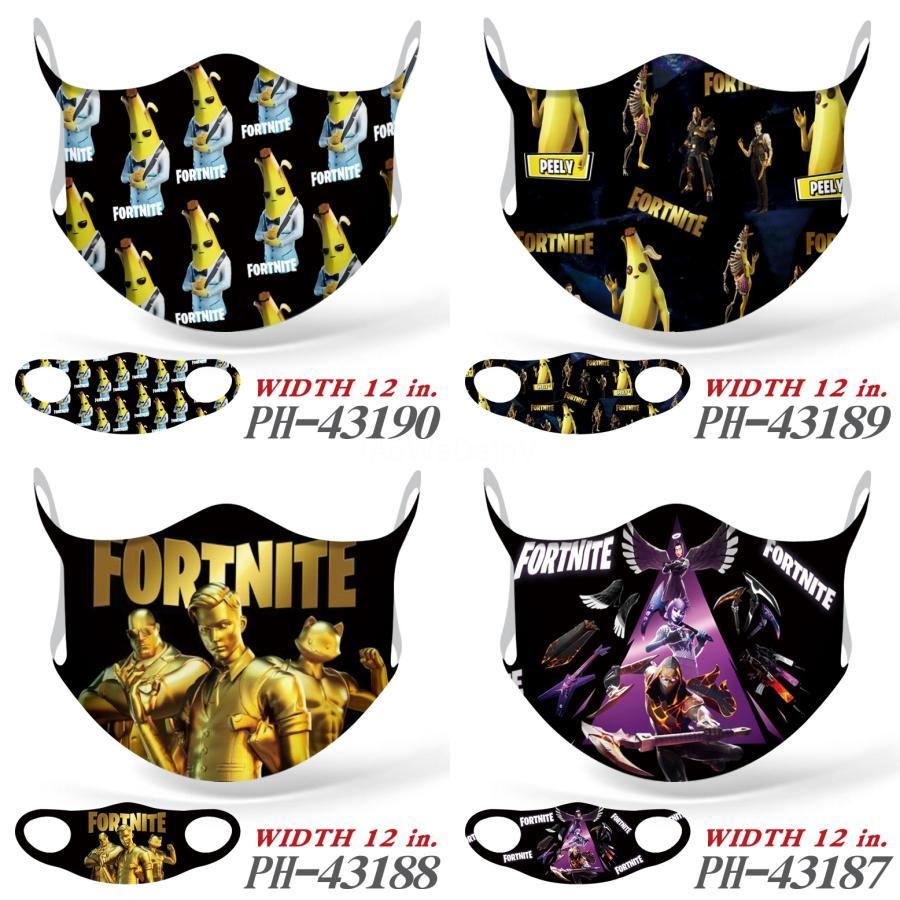 Windproof Print Face Fortnite Mask Mouth Er Balaclavas Bandanas Headwear Neck Gaiter Magic Biden Fortnite Mask Headbands Cycling Motorcyc#562