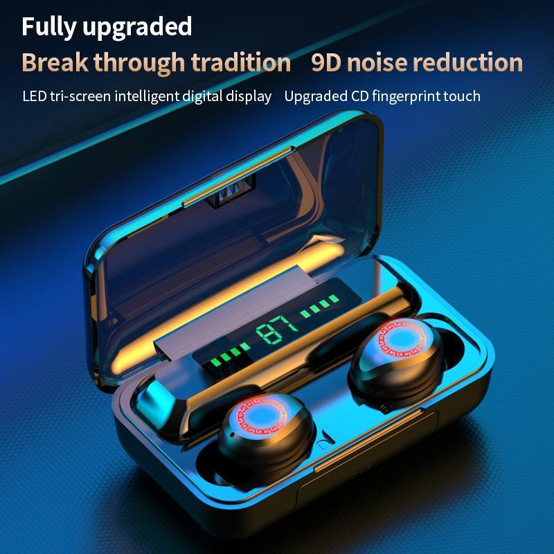 S12 TWS sem fio Bluetooth 5.0 Headphone 2200mAh Waterproof Fones HIFI Stereo Headset Cancelamento de Ruído Toque Earbuds Alimentação Display