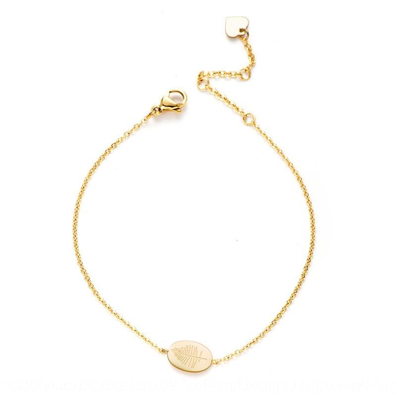 jvYpU núcleo elegante joyería de 2020 nueva manera simple brazalete de acero inoxidable de alta calidad pulsera de oro genuino de oro