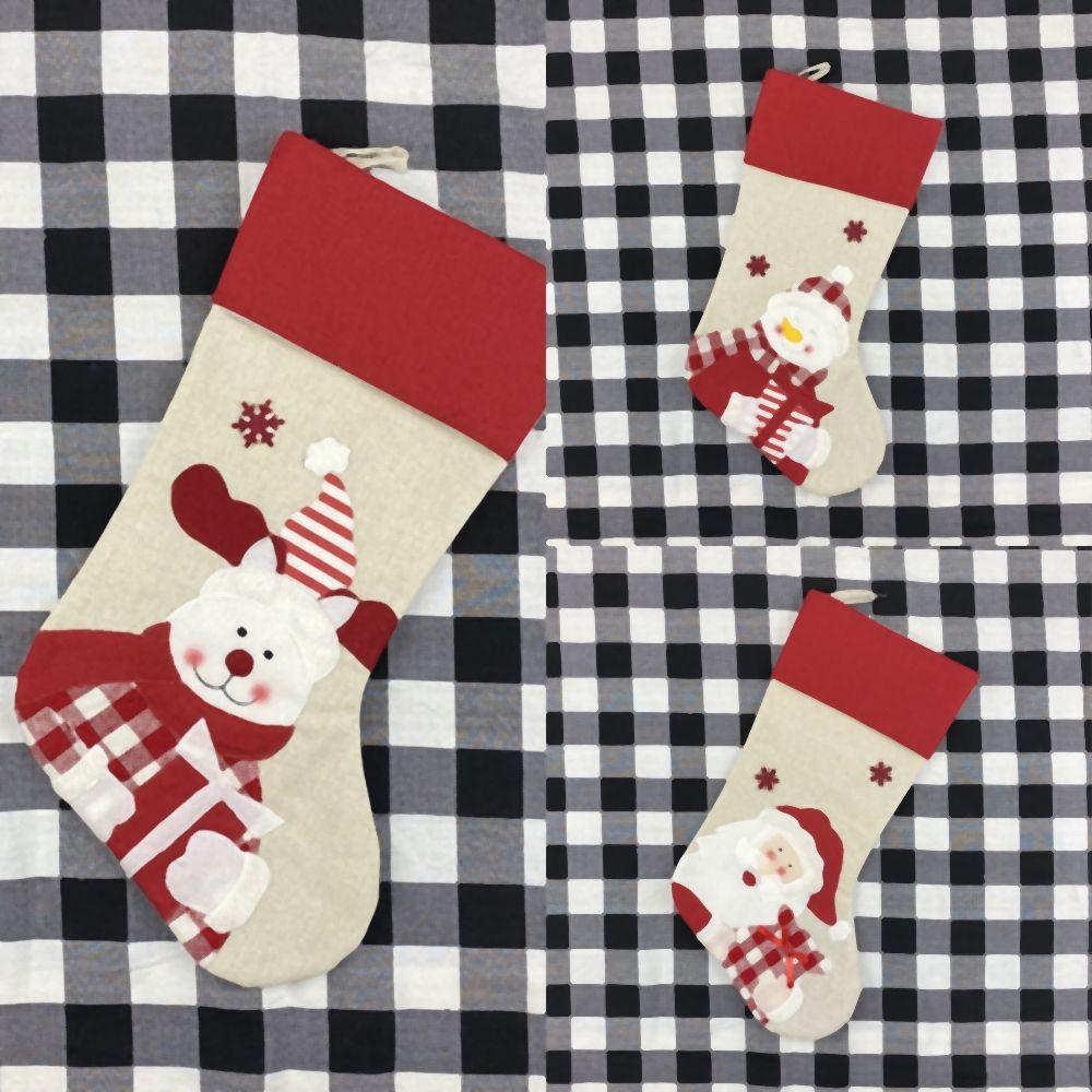 P decoración de la tabla BnoCK muñecos de nieve Cubierta Cubierta ciervos encantadores Mat Decoración de la mesa de Navidad Moda Soft Hotel Festival de Navidad Mantel calcetines