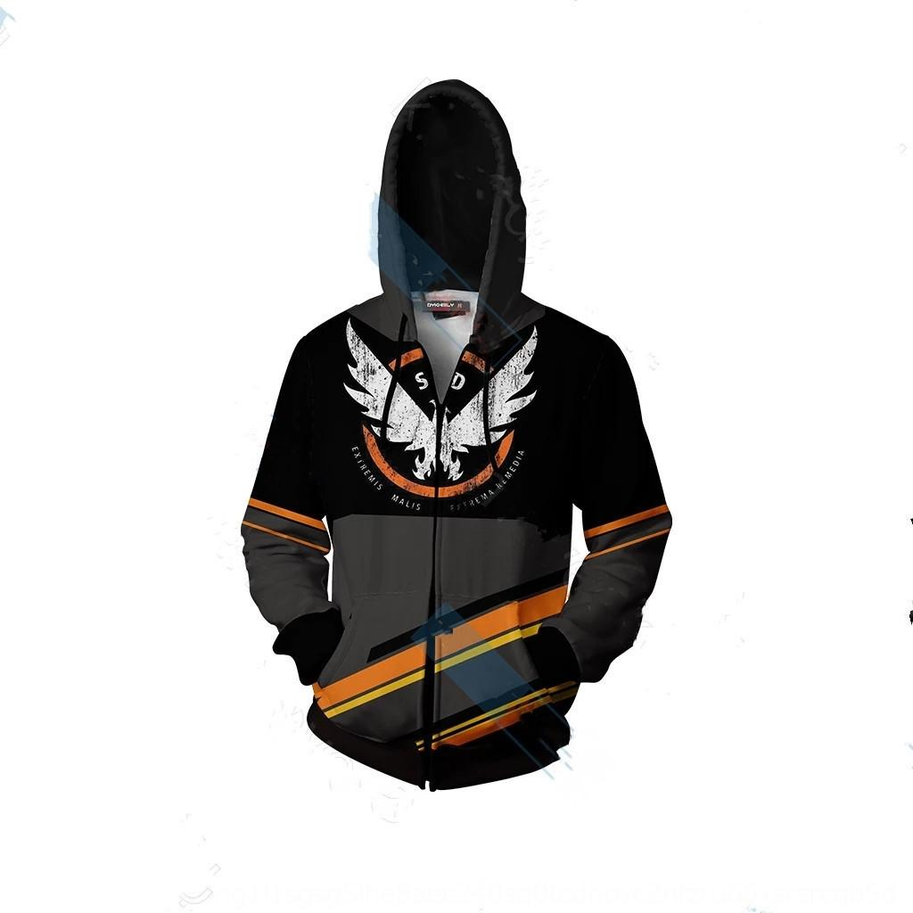 PyedK Nouveau jeu chaud porte 3D 2 série Hoodie animation cosplay de blocage pull pull à capuche 3D Mrw6z