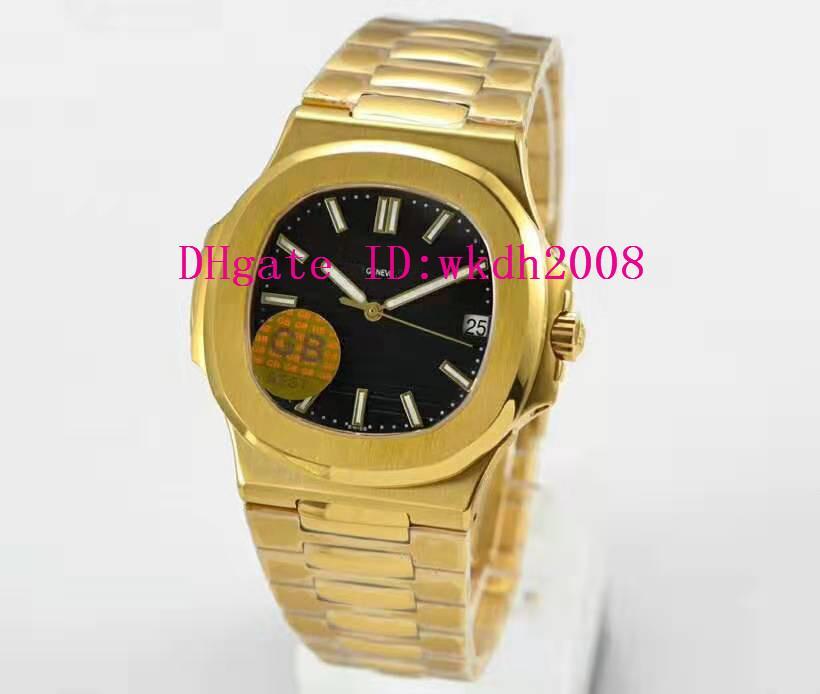 GB Top Nautilus 5711 Sport Mens Watch Cal.324 Автоматические механические повседневные часы Sapphire 18K Золотые часы Super Luminous Водонепроницаемые часы