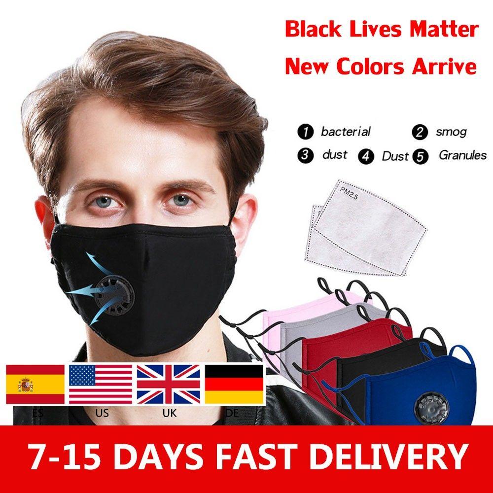 Auf Lager! Anti Pollution PM2.5 Mundmaske Staubmaske Waschbar wiederverwendbare Masken Baumwolle Unisex Mouth Muffel für Allergie Asthma-Reisen 0016