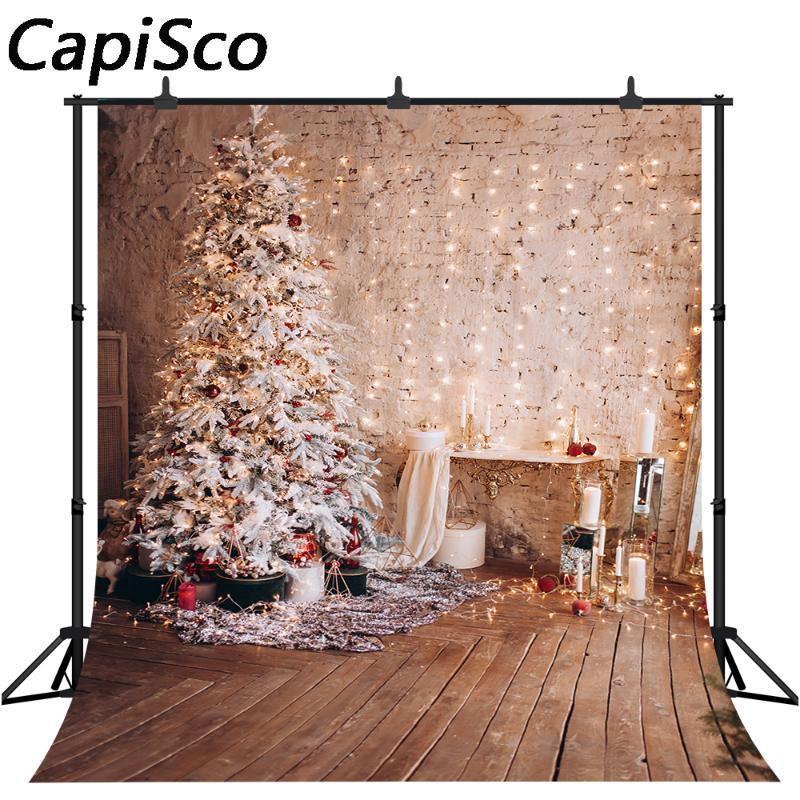Vintage legno albero di Natale Capisco, Scenografia, Fotografia piano Sfondo Photobooth Decorazione per feste Puntelli Photo Studio