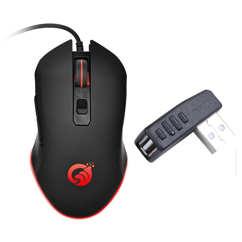 1 Pz laterale ad angolo retto USB una femmina a una porta USB maschio adattatore del connettore Mozzi 1 Pz G70 Wired Gaming Mouse