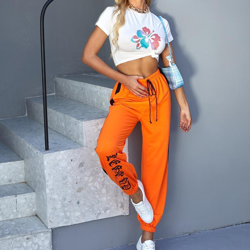 2020 Automne et Pantalons simple d'hiver nouvelles femmes, la mode et de la rue Polyvalent sport Pantalons