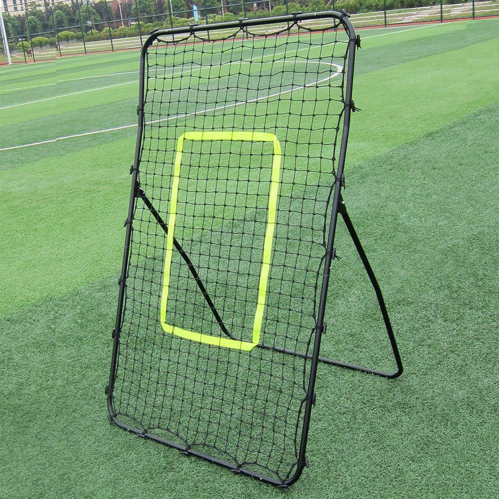 New Pitch Back Rebound Чистый бейсбол, бросающий поток возврата отказов отказов тренировок отскок гола черная оцинкованная стальная труба