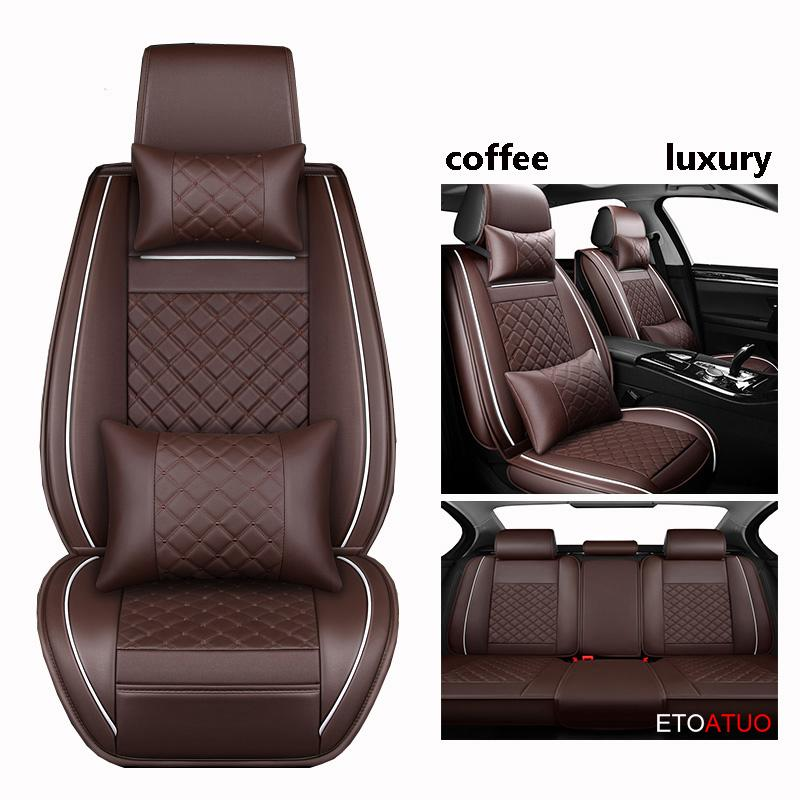 Full Coverage Eco-leather auto seats covers PU Leather Car Seat Covers for VW polo beetle plus scirocco passaat