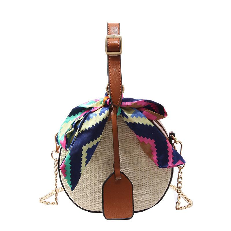 Europe and America portable Circular weave Straw Beach Versatile bags fashion sacs à main Simplicity One shoulder straddle bag